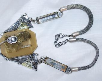 LUIGI BRIGLIA Modernist Necklace 1970 Made in Italy