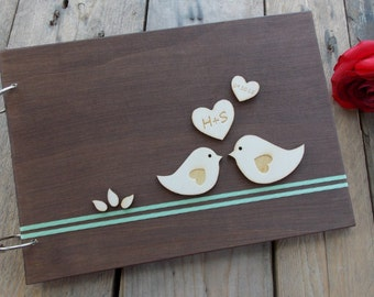 "Wedding guest book ""Birds"""