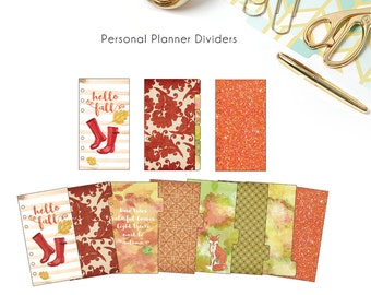 Printable Personal Planner Dividers - Autumn/ Fall Themed