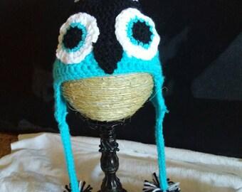 Handmade crochet penguin hat