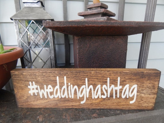 Wedding hashtag sign wedding decor personalized love sign for Decor hashtags