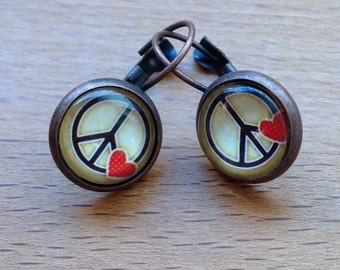 Vintage PEACE & LOVE earrings