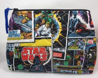Star Wars cosmetic bag, makeup bag, cosmetic case, makeup organizer, cosmetics, cosmetic pouch, makeup, Star Wars, stocking stuffer