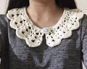 Crochet Fake Collar / T-shirt Collar / Sweater Collar / Slip on Collar