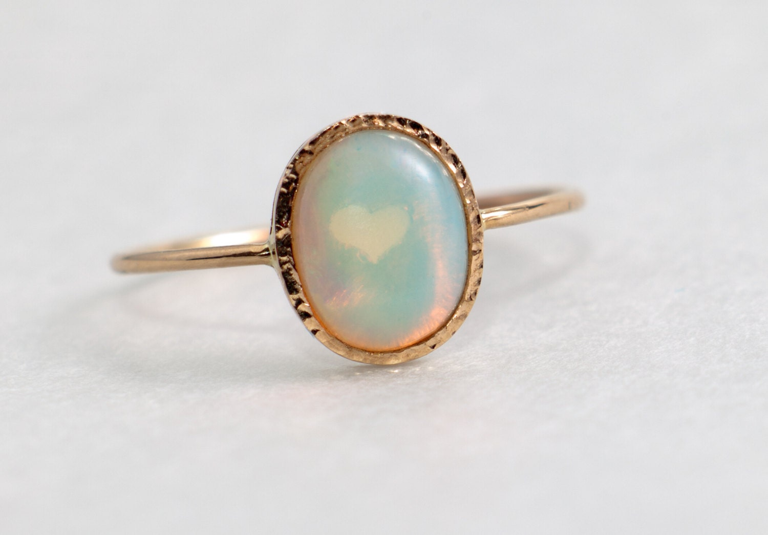 fire opal engagement ring solid 14k gold opal jewelry. Black Bedroom Furniture Sets. Home Design Ideas