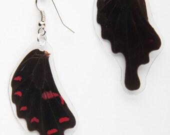 Pink Rose Butterfly Earrings