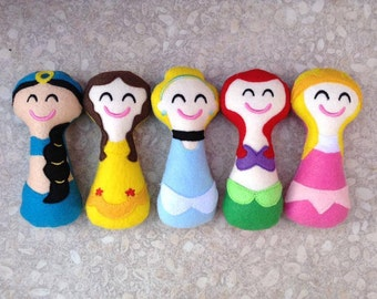 Lot of 3 Super Soft baby girl rattles-princesses-star wars- superheros- tv characters-Geeky-Nerdy