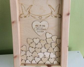 Wedding drop box guest book package