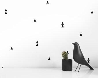 Modern Wall Decals - Black Triangle |  Modern Nursery| Modern Baby room  decor ideas | Modern nursery decor