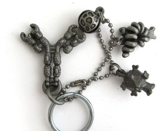 Antibody with infectious agents and allergens Immunology Keychain