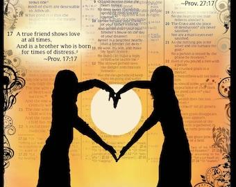 """Note Card """"A True Friend"""" -Scriptural"""