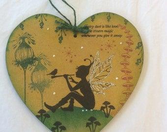 Sky - magical fairy mdf heart