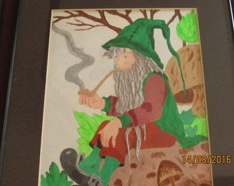 Hand Painted Lucky Leprechaun 11 x 14 painting