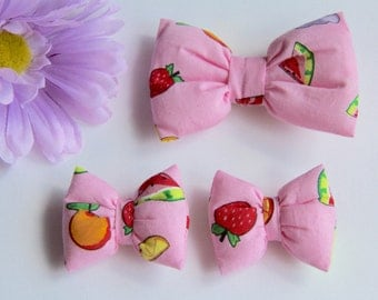 Pink Hair Bow, Girls Hair Clips, Baby Hair Bows, Baby Hair Clips, Baby Bows, Fruit Hair Clip, Bow Hair Clips