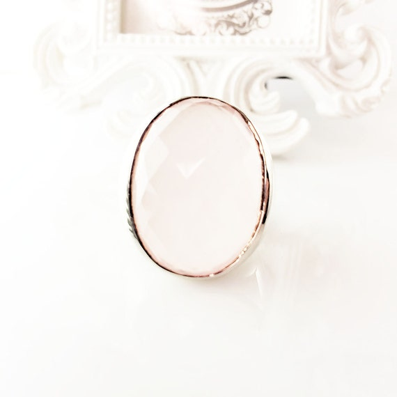 quartz sterling silver ring gift for pink