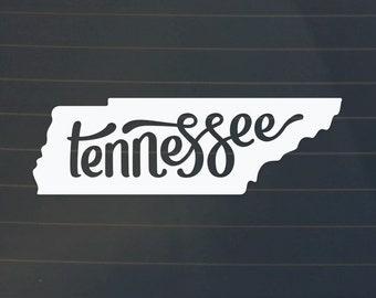 Tennessee Car Decal - Tennessee Decal - Tennessee Sticker