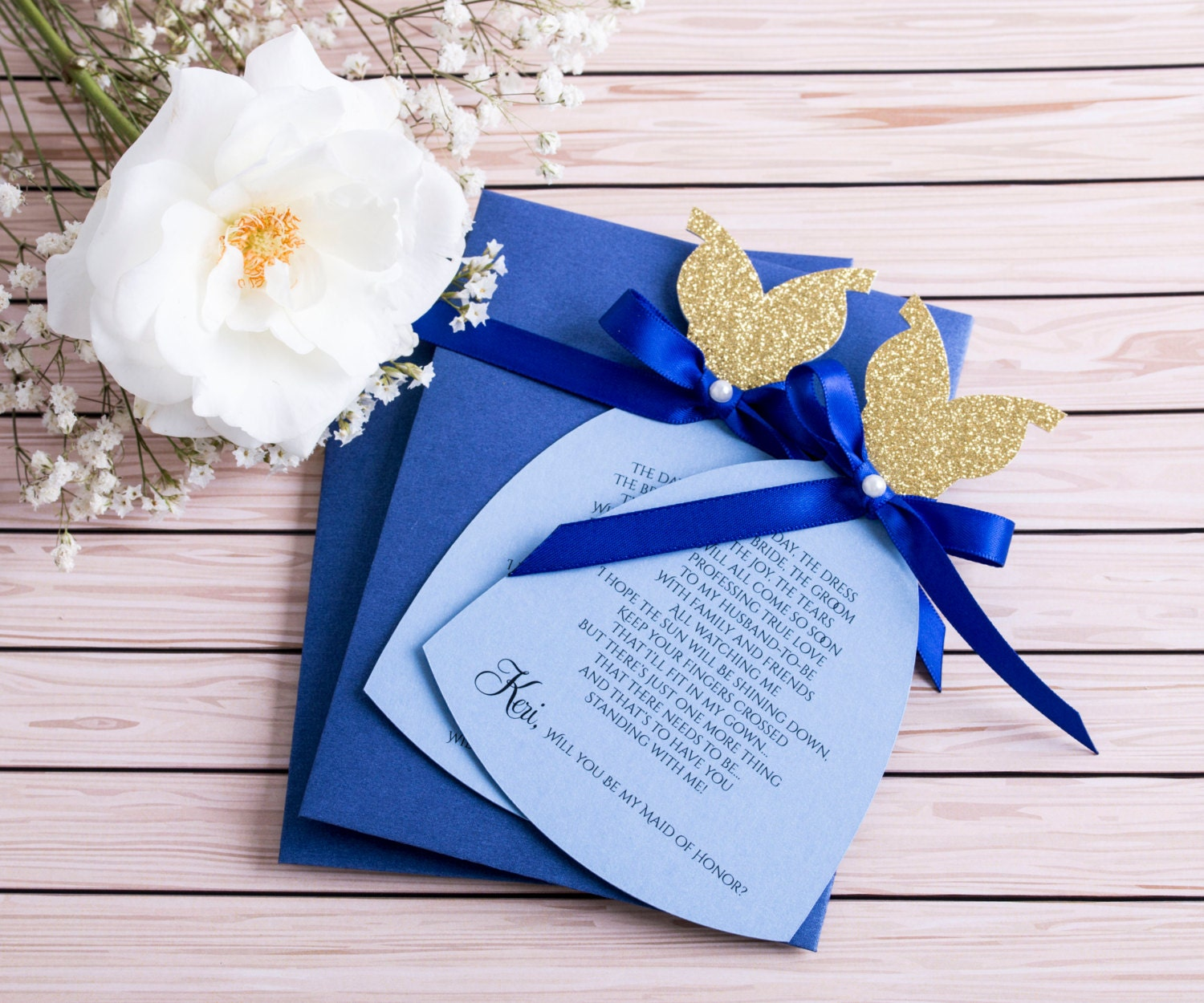 royal blue and gold bridesmaid royal wedding invitation Royal Blue and Gold Bridesmaid Invitation Will You be my Bridesmaid Asking Bridesmaid Wedding Invitation Proposal Maid of Honor card