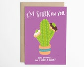 Funny Love Card, Card for Him, Card for Her, Love Cards, Anniversary Card, Cactus Card, Card for Boyfriend, Card for Girlfriend/C-274