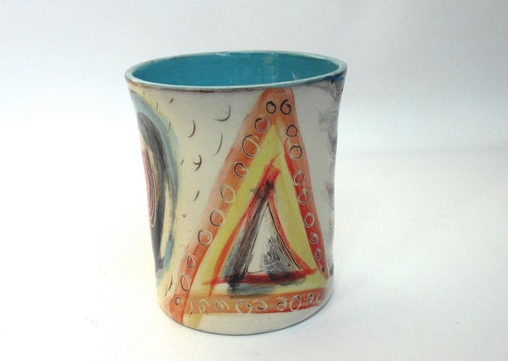 Pottery Mug Without Handle Handmade Coffee Cup Unique Gift