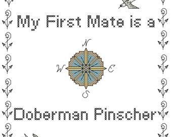 Doberman Pinscher, dobie, cross stitch pattern, xstitch, dog cross stitch, Doberman Lover, Doberman Pinscher art, gift ideas, graph, counted