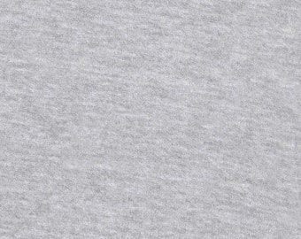 Heather Gray Solid Cotton Spandex Jersey Knit Fabric 5131