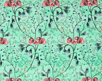 Akebia in Peony, Cottage Garden Collection by Alice Hickey for Free Spirit Fabrics
