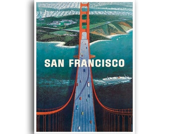 San Francisco Retro Art Print Travel Poster Home Decor (XR773)