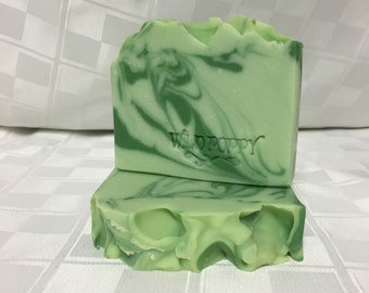 Fresh Cut  Grass Soap / Artisan Soap / Handmade Soap / Soap / Cold Process Soap