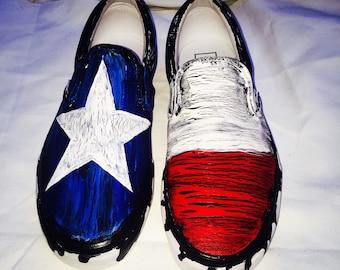 Customized Vans Men's Canvas Shoes