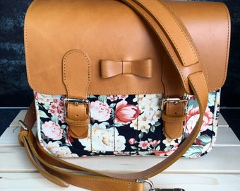 Black orange flora Mirroless Camera bag + 1 camera strap ( your can choose camera strap any style that I have )