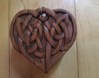 Celtic heart puzzle box