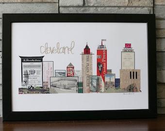 Cleveland Skyline Red with Sports Illuminating Company