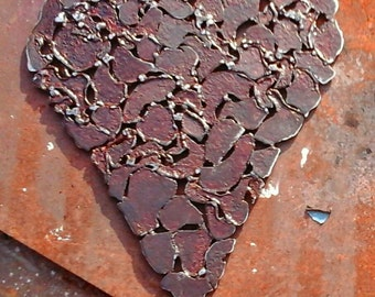 Upcycled Rusted Metal Wall Decoration Heart