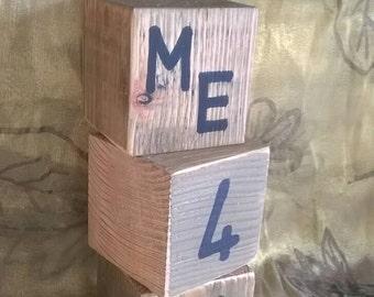 Handmade wooden love cubes