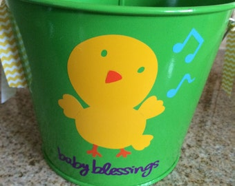 Baby Blessings bucket gift pail kids