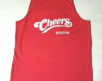 Cheers Boston tank top size large 90s singlet **flawed**