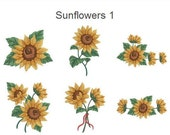 Sunflowers Machine Embroidery Designs Pack Instant Download 4x4 hoop 10 designs SHE1765