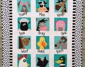 Farmyard Stars Paper Pieced Quilt