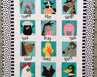 Farmyard Stars Paper Pieced Quilt