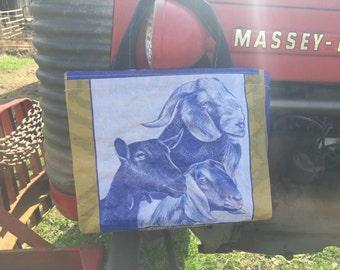 Goat Feed Sack Market Tote Bag