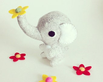 Kawaii felt elephant