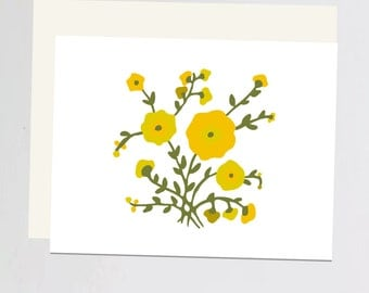 Greeting Card yellow flowers
