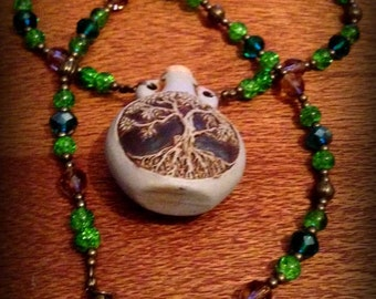 TREE OF LIFE Druid/Norse Beaded Bottle