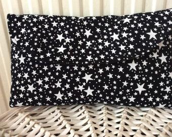 Star black & white clutch bag