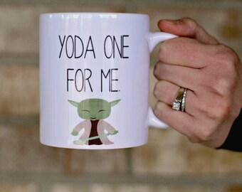 Yoda Mug, Yoda One For Me Mug,  gift for him, boyfriend gift, gift for her, Gift for husband, Gift for him, star wars mug
