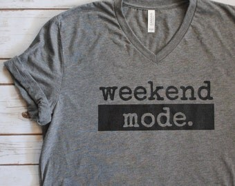 Weekend Shirt - Womens Graphic Tees - Womens Clothing - Lazy Days - Girls Weekend Shirt - Comfy Tee - Brunch Shirt - Trendy Womens Clothing