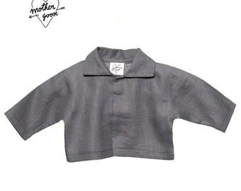 """Jacket """"Golden loop"""" - grey linen"""