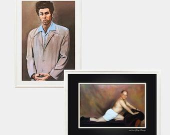 Seinfeld A3 prints - Cosmo Kramer / George Costanza