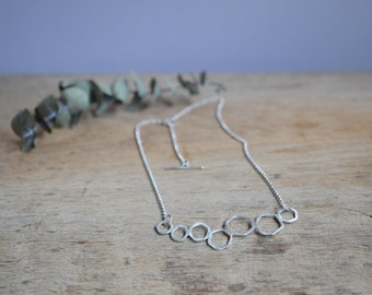 Ready to Ship! // Sterling Silver Geometric Shapes Necklace // Contemporary Jewellery // Silver Outline