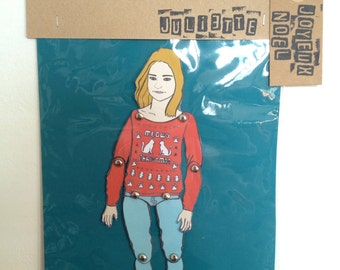 Personalized paper doll, custom made paper doll